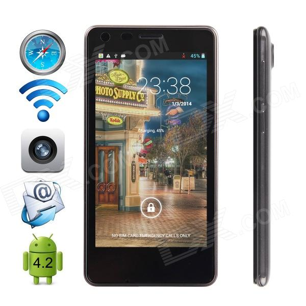 CUBOT S108 MTK6582 Quad-core Android 4.2.2 WCDMA Bar Phone w/ 4.5 QHD, Wi-Fi and GPS - Black cubot one s mtk6582 quad core android 4 2 2 wcdma bar phone w 4 7 ips qhd wi fi and gps red