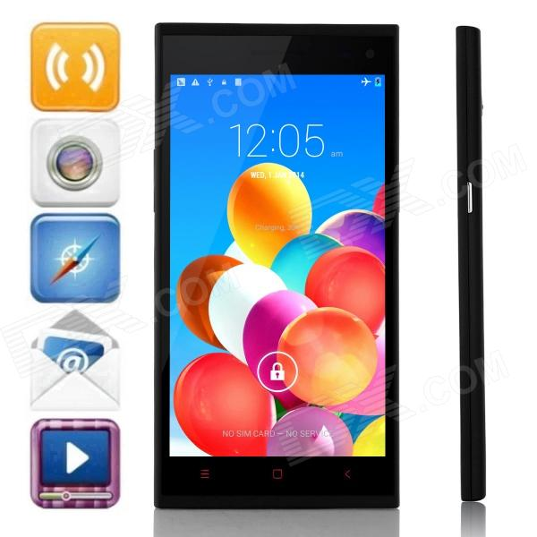 Mijue M880 MTK6582 Quad-Core Android 4.4.2 WCDMA Bar Phone w/ 5.5 QHD, 8GB ROM, GPS, OTG - Black mijue m6 mtk6582 quad core android 4 2 2 wcdma bar phone w 4 5 qhd 4gb rom wi fi gps white