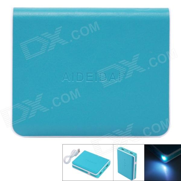 AIDEIDAI P5003A 11200mAh USB 18650 Battery Mobile Power Bank w/ LED - Blue battery capacity tester resistance testing mobile power lithium lead acid battery can be 18650 serial line 20w