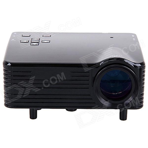 UR53 Mini 1080P LED Portable Projector w/ AV / VGA / USB / HDMI / 8GB SD Card - Black