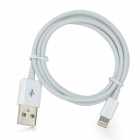 MFi Power4 8-Pin Lightning Male to USB 2.0 Male Cable for IPHONE / IPAD / IPOD - White (100cm)