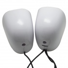 WLD FS-34 2 x 3W Mini Speakers for Laptop / Computer - White + Blue (2 PCS)