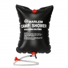 HARLEM Outdoor Camping Solar Poered Hanging Water Bag Shower - Black (20L)
