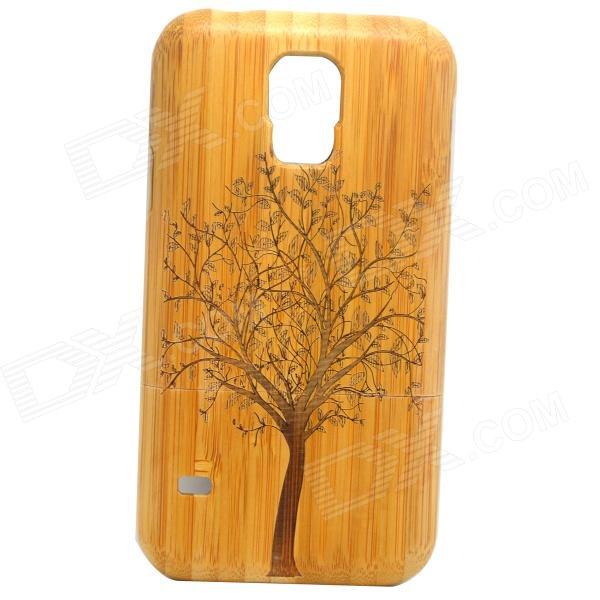 Tree Pattern Detachable Protective Bamboo Back Case for Samsung Galaxy S5