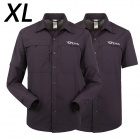 ESDY-628 Men's Quick-Drying Detachable Outdoor Shirts - Navy (Size XL)