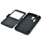 Fashionable Armor Style Protective TPU + PC Case w/ Auto-Sleep for Samsung Galaxy S5 - Black