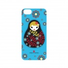 Genuine American Greetings iPhone5/5s Hard Case with screen protector -Blue Russian Doll- CA-IGAG014