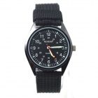 WEIPENG W-3 Men's Sports Outdoor Cloth Belt Quartz Analog Wrist Watch - Black (1 x LR626)