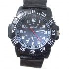 WEIPENG W-7 Men's Sports Outdoor Cloth Belt Quartz Analog Wrist Watch - Black (1 x LR626)