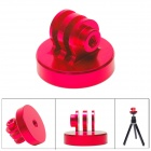 "Fat Cat High Precision CNC Aluminum Alloy 1/4"" Tripod Adapter Mount for GoPro Hero 3+ / 3 / 2 - Red"