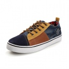 SNJ Men's Casual Canvas Shoes - Yellow + Multicolored (Size 43)
