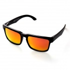 OREKA 999 Polarized UV400 Protection PC Frame Resin Lens Sunglasses - Black + Blue Revo