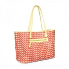 Catwalk88 Trendy Women's PU + Cotton Shoulder / Tote Bag / Handbag - Yellow + Red