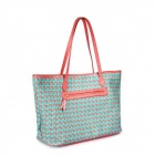 Catwalk88 Trendy Women's PU + Cotton Shoulder / Tote Bag / Handbag - Blue + Red