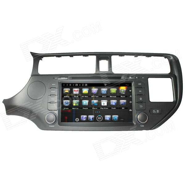 цена на LsqSTAR 8 Android4.0 Capacitive Screen Car DVD Player w/ GPS FM BT Wifi BT SWC AUX for Kia K3 / Rio