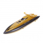 958 High Speed 4 Channel Radio Remote Control Racing Boat Toy - Yellow