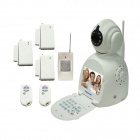 "IPC-032 3.5"" LCD 1/4"" CMOS 0.3MP Video Call P2P IP Camera w/ 10-IR-LED / Wi-Fi  - White (PAL / NTSC)"