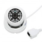 "ESCAM QD520 1/4"" CMOS 720P Peashooter Waterproof IP Camera w/ 24-IR-LED / IR-CUT - White (UK Plug)"
