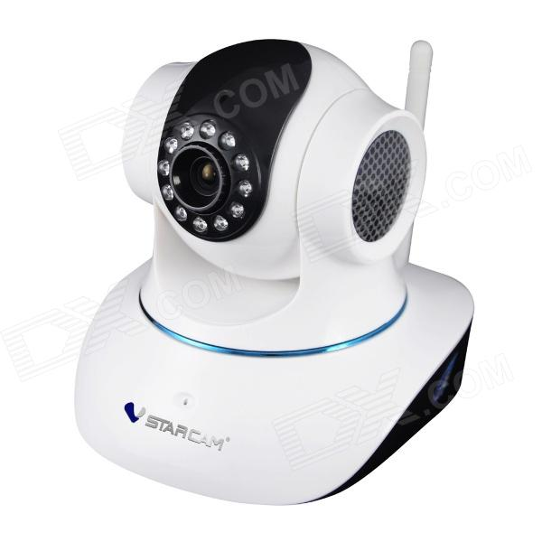 "VStarcam T7835WIP 1/4"" CMOS 1.0MP P2P Wireless IP Camera w/ 12-IR-LED / Wi-Fi - White + Black"