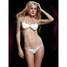 ZL3764 Women's Romantic Luring White Rose Sexy Lingerie Set - White (Free Size)