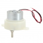 DIY Plastic + Aluminum Gear Motor for Model Car - Silver + Ivory