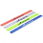 Acacia Bicycle Reflective Tape Trousers Tie Band - Blue + Fluorescent Green + Red + Silver (4 PCS)