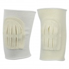 Camewin Nylon Outdoor Sports Knee Support Protector - White (Pair)