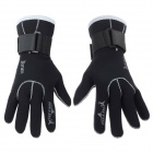 3mm Thickness Winter Diving Swimming Warm Sports Gloves - Black (M / Pair)