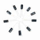 DIY 25V / 100UF Aluminum Electrolytic Capacitor - Black (10PCS)
