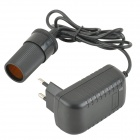 SZGAOY 140603-121B 12V 1A Car Cigarette Lighter w/ EU Plug - Black + Silver (AC 100~240V)