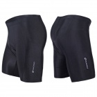 NUCKILY NS355 Men's Four Seasons Outdoor Cycling Lycra Padded Underwear - Black (M)