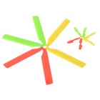 WLtoys KV977-004 Main Rotor Blades + Tail Blades Set for V966 / V977 + More - Yellow + Red (6 PCS)