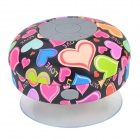 BTS-06 Heart Style Bathroom Water Resistant Suction Cup Bluetooth V3.0 Speaker - Multi-colored