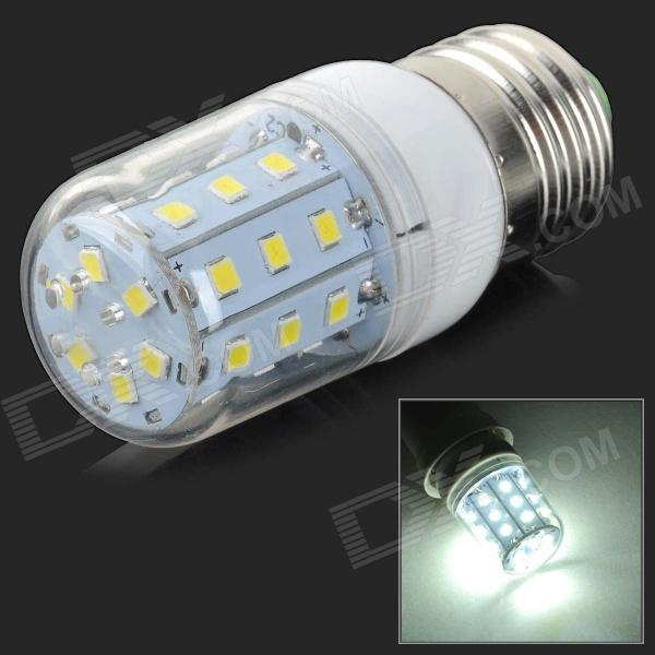 E27 5W 350lm 6500K 30-SMD 2835 LED White Light Corn Lamp - White + Silvery Grey (AC 220V) e27 10w 950lm 6500k 56 smd 5730 led white corn lamp white silvery grey ac 220 240v