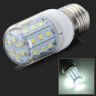E27 5W 350lm 6500K 30-SMD 2835 LED White Light Mais-Lampe - Weiß + silbrig Grau (AC 220 V)