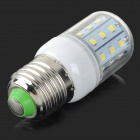 E27 5W 350lm 6500K 30-SMD 2835 LED White Light Corn Lamp - White + Silvery Grey (AC 220V)