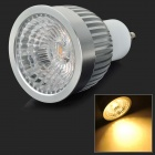GU10 6W 500lm 3500K CXA1304 COB LED Warm White Light Spotlight - Blanco + Gris plateado (AC 85 ~ 265V)