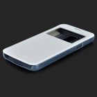 Elegante tapa ABS Open + PU Case w / Display Window para Samsung Galaxy Mini S5 G800 - Blanco