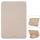 Flip Open Auto Sleep Matte Frosted Protective TPU Case w/ Folding Stand for IPAD Mini 2 - Khaki