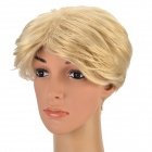 NAWOMI W3560 Men's Cosplay Party Makeup Short Straight Hair Wig - Golden
