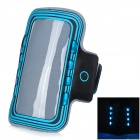 Sports Arm Band Case w/ LED Flickering light for Samsung Galaxy S5 - Blue + Black (2 x CR2032)