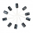 DIY 16V / 470UF Aluminum Electrolytic Capacitor - Black (10PCS)
