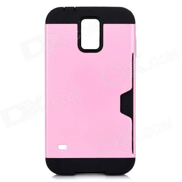все цены на TPU + PC Protective Back Case for Samsung Galaxy S5 - Pink онлайн