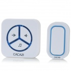 CACAZI 9909 Wireless Digital Remote Control Door Bell - White (US Plug / 220V)