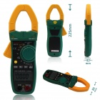 MASTECH MS2138 0 ~ 1000A AC / DC Digital Clamp Meter - Preto + Army Green (3 x AAA)