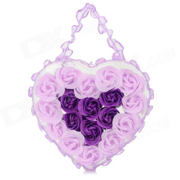 Romantic Rose Shaped 18-Soap Flower Bath Confetti - Grey Violet + Modena