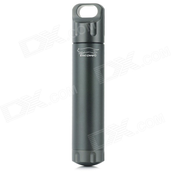 EDCGEAR Outdoor Waterproof Aluminum Alloy Storage Bottle - Iron Grey