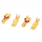 SZGAOY DIY 2-Hole 6.3mm Male & Female Base Holders w/ Male & Female Terminals - White + Golden