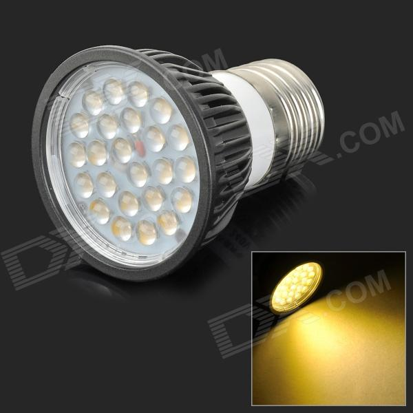 Lexing LX-DB-11 E27 4.5W 300lm 3500K 24-SMD 2835 LED Warm White Spotlight - Black (AC 220~240V) lexing lx qp 20 e14 6w 470lm 3500k 15 5730 smd led warm white light dimmable lamp ac 220 240v