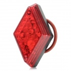 WH-22 Waterproof 5-LED 7-Mode Red Light Bike Tail Light w/ Clip - Red + Black (2 x CR2032)